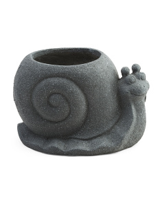 Outdoor Clay Snail Planter