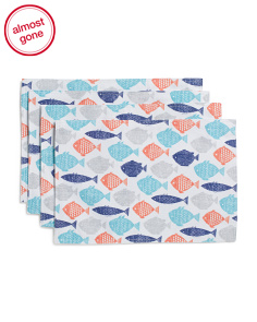 4pc Indoor Outdoor Fish Placemats