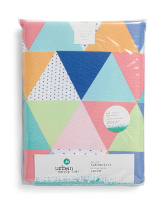 Prismatic Triangles Indoor Outdoor Tablecloth