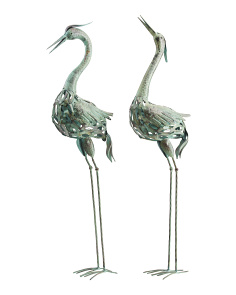 Set Of 2 Outdoor Metal Cranes