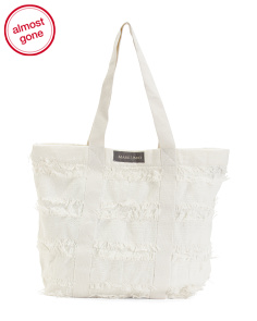 Lined Cotton Eyelash Tote