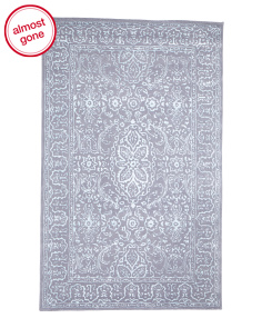 Made In India 5x8 Medallion Wool Rug