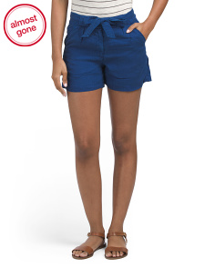 Herringbone Tencel Shorts