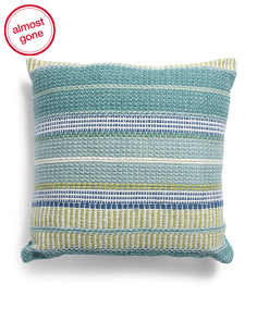 Made In India 22x22 Indoor Outdoor Stripe Pillow