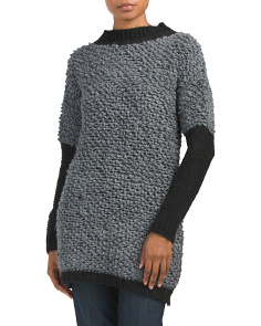 Made In Italy Boucle Tunic Pullover Sweater