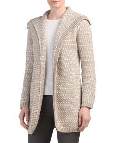 Made In Italy Jacquard Long Cardigan