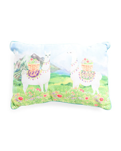 16x24 Indoor Outdoor Llama Pillow