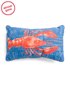 14x24 Indoor Outdoor Lobster Pillow