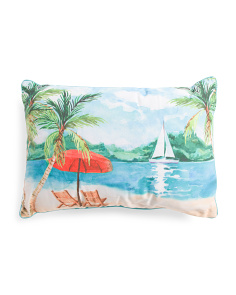 16x24 Indoor Outdoor Palm Tree Pillow