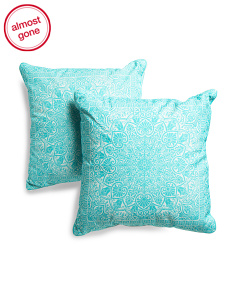 20x20 2pk Indoor Outdoor Medallion Pillow