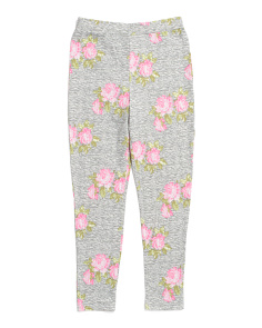 Big Girls Floral Cozy Leggings