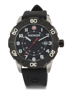 Men's Swiss Made Terragraph Silicone Strap Watch