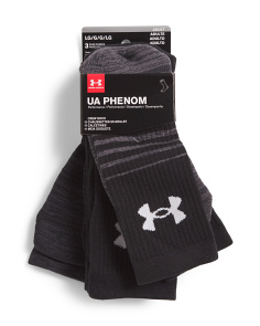 3pk Phenom Crew Socks