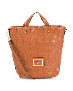 Liza Woven Shoulder Bag