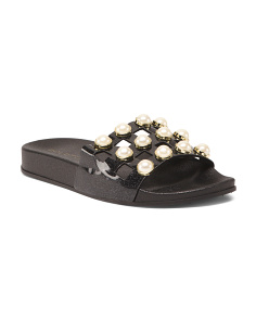 Pearl Slide On Sandals