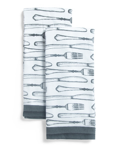 2pk Fork Kitchen Towels