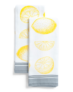 2pk Lemon Kitchen Towels