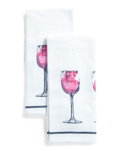 2pk Wine Kitchen Towels