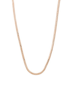 Made In Italy 14k Rose Gold Plated Sterling Silver Snake Chain