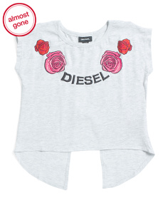 Big Girls Embroidered Scoop Neck Top