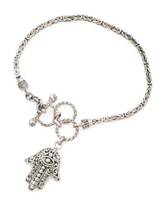 Made In Bali Sterling Silver Filigree Hamsa Bracelet