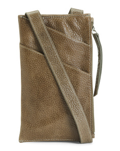 Adrian Cell Phone Leather Crossbody