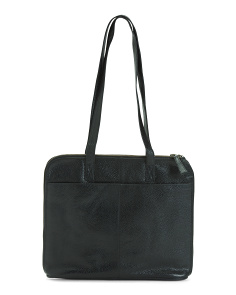 Multi Compartment Leather Tote