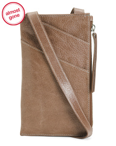 Leather Adrian Cell Phone Crossbody