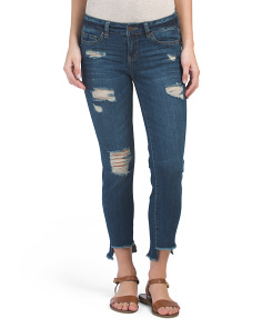 Juniors Step Hem Skinny Jeans