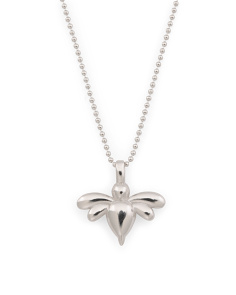 Made In Italy Sterling Silver Dragonfly Necklace