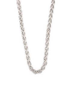 Made In Italy Sterling Silver Spiga Chain Necklace