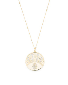 Gold Plated Talisman Medallion Necklace