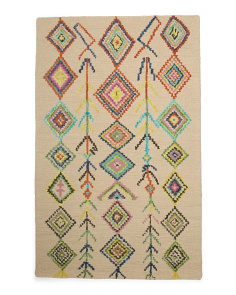 Made In India Contemporary Wool Area Rug