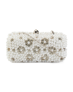 Pearl And Crystal Clutch