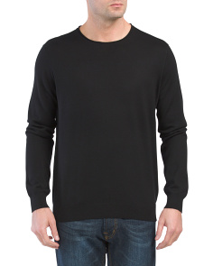 Crew Neck Wool Blend Sweater
