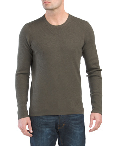 Oval Thermal Wool Sweater