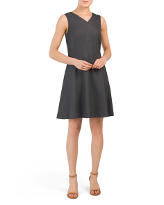 Tillora Prompted Wool Blend Dress