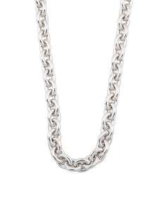 Made In Italy Sterling Silver Rolo Necklace