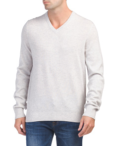 Wool & Cashmere V Neck Sweater