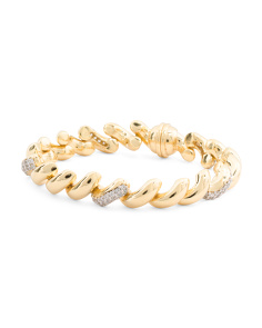 Made In Italy Gold Plated Sterling Silver San Marco Bracelet