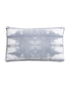 12x20 Faux Linen Shibori Pillow