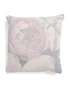 20x20 Shimmer Floral Printed Pillow