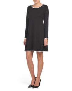 Made In Usa Solid Brushed Jersey Dress