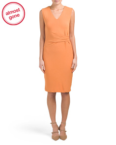 V-neck Draped Jersey Dress