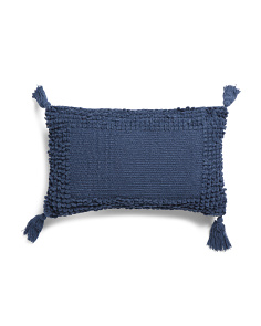 Made In India 12x20 Chenille Textured Pillow