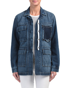 Denim Military Jacket