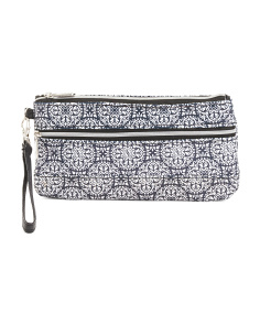 Two Zip Pocket Wristlet