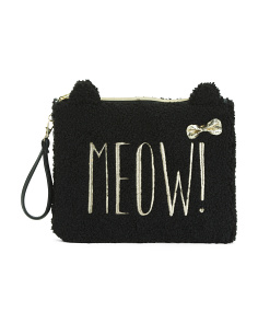 Cat Pouch With Wristlet
