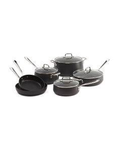 10pc Hard Anodized Nonstick Cookware Set