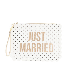 Bride Wristlet With Scalloped Edge